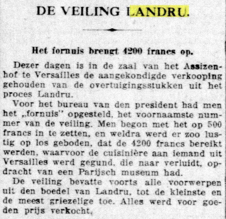 """uit """"De Telegraaf"""" 31-01-1923"""